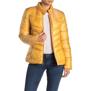 VIA SPIGA Puffer Light Golden Iridescent Jacket